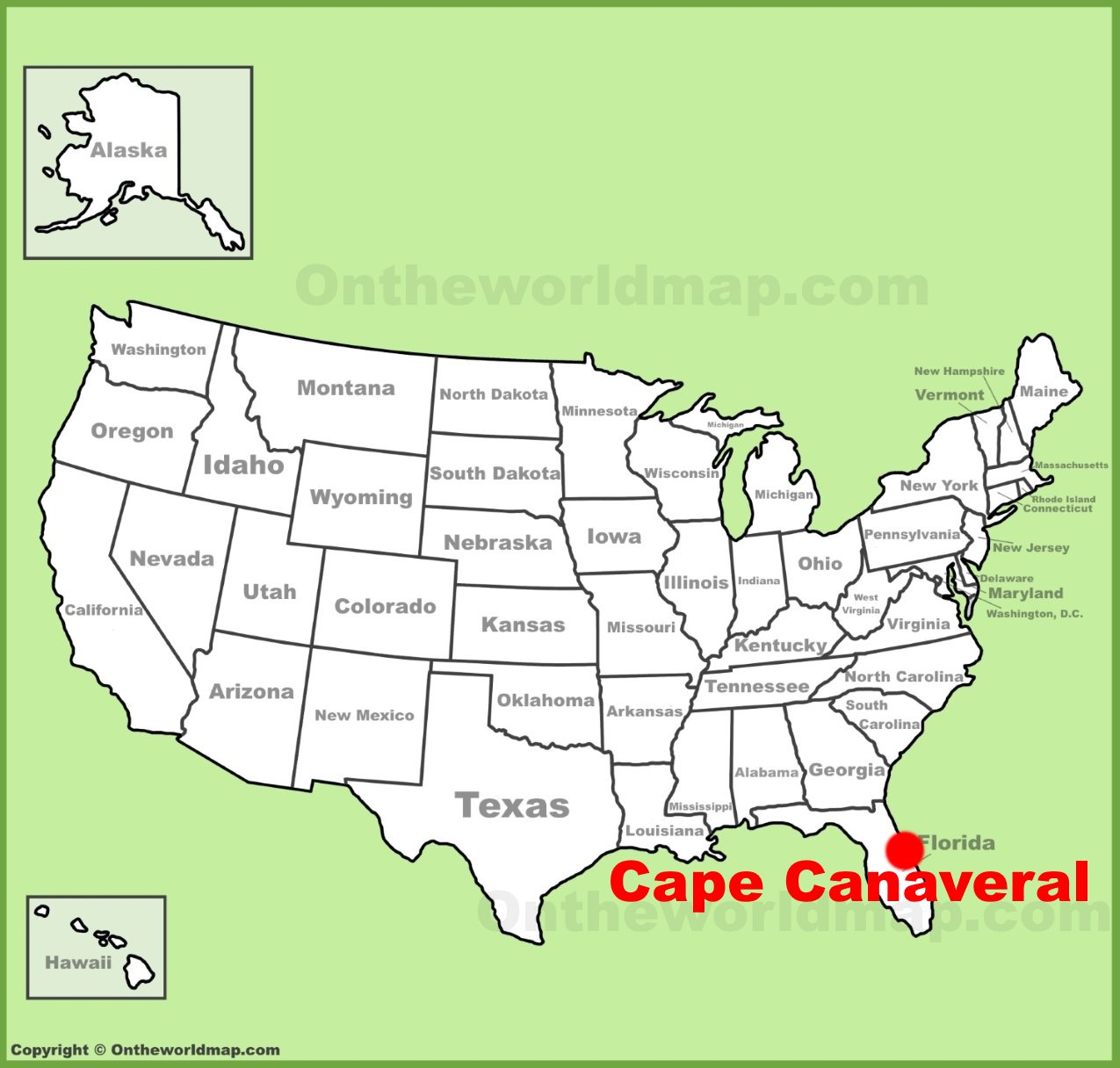 Cape Canaveral location on the U.S. Map on myakka map, southwest gulf coast map, cape kennedy map, frostproof map, cape blanco map, cape hatteras map, canaveral groves map, beach in indialantic fl map, lake okeechobee map, gladeview map, cape cod map, great basin map, south daytona beach map, canaveral port authority map, florida map, canaveral barge canal map, st. augustine map, key west map, cape flattery map, the everglades map,