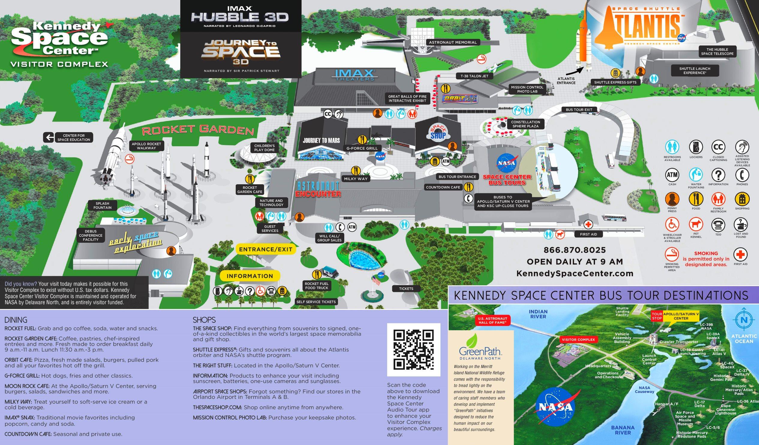 Kennedy Space Center Map Kennedy Space Center Visitor Complex Map
