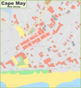 Cape May downtown map