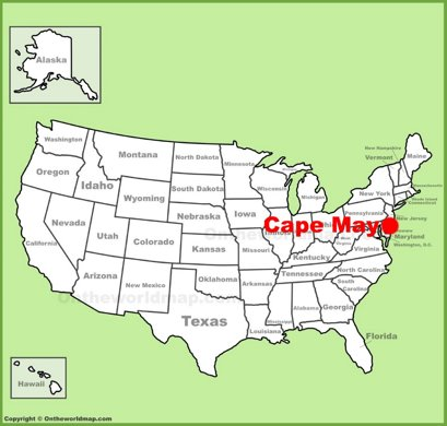 Cape May Location Map