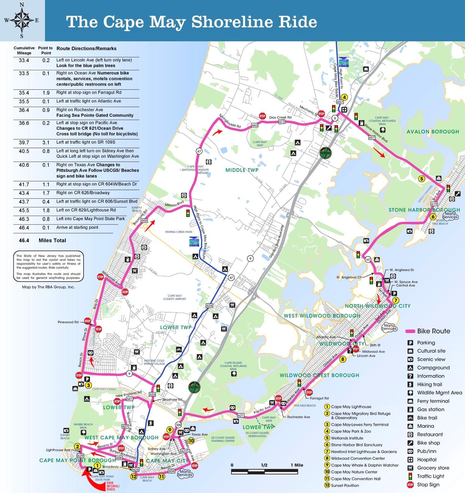 Cape May tourist map Cape May Hotel Map on