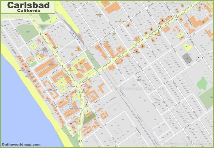 Carlsbad Downtown Map