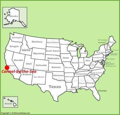 Carmel-by-the-Sea Location Map