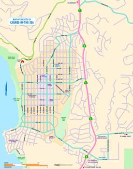 Carmel-by-the-Sea Road Map