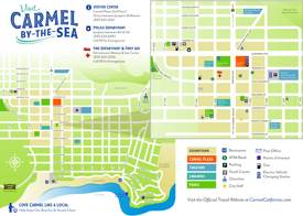 Carmel-by-the-Sea Tourist Map