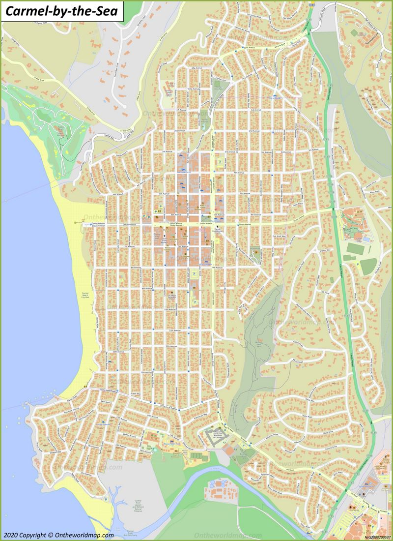 Map of Carmel-by-the-Sea