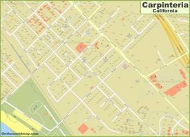 Carpinteria City Center Map