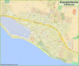 Detailed Map of Carpinteria