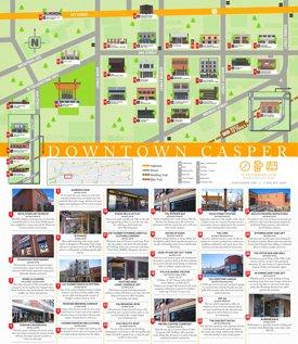 Casper downtown walking map