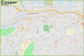 Large detailed map of Casper