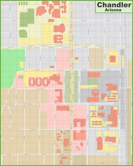 Chandler downtown map