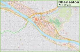 Large detailed map of Charleston