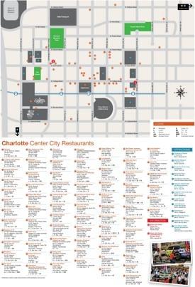 Charlotte restaurant map