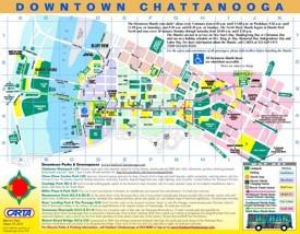 Chattanooga tourist map