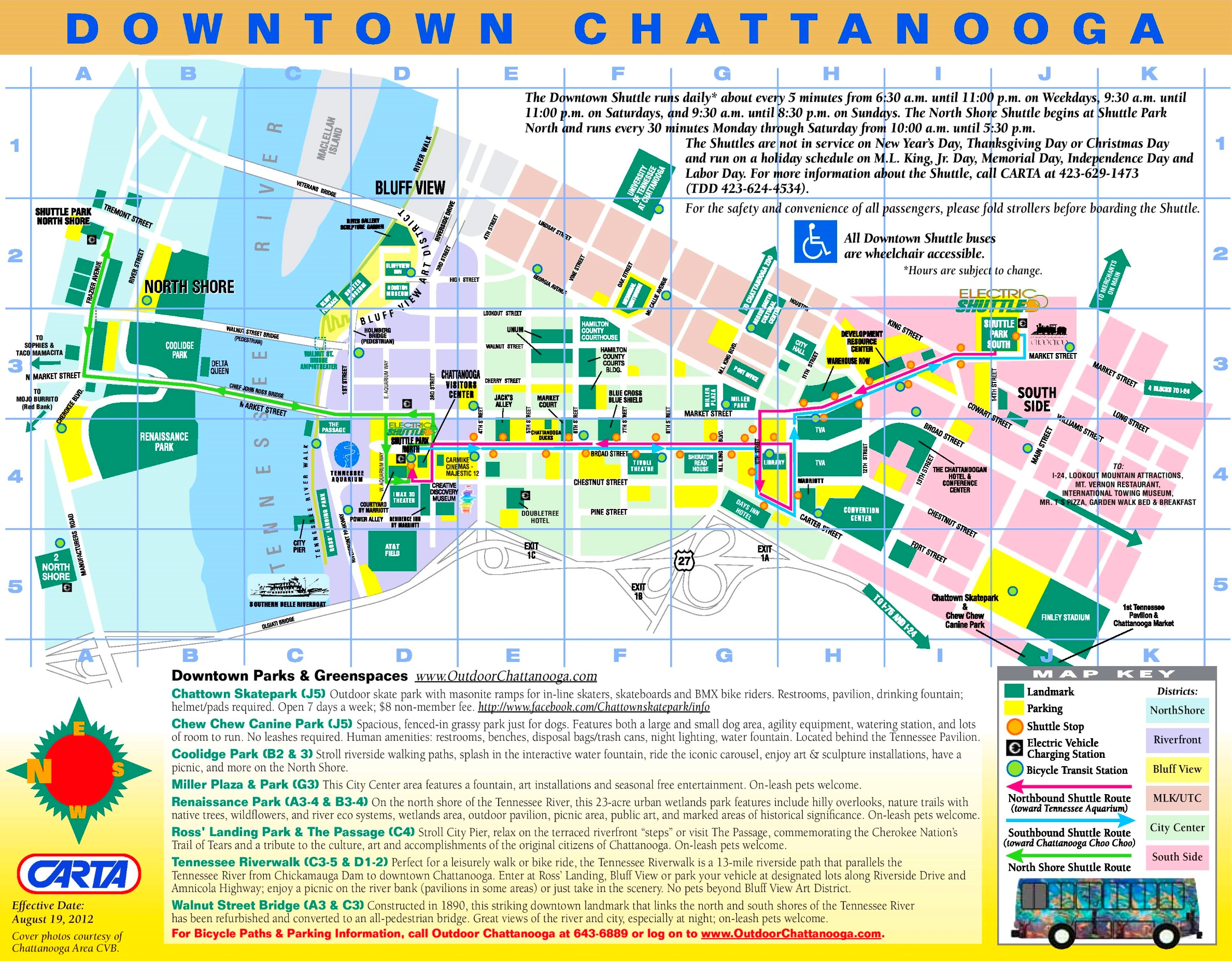 Chattanooga tourist map