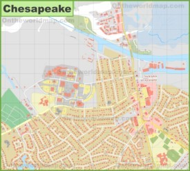 Chesapeake city center map