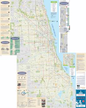 Chicago bike map