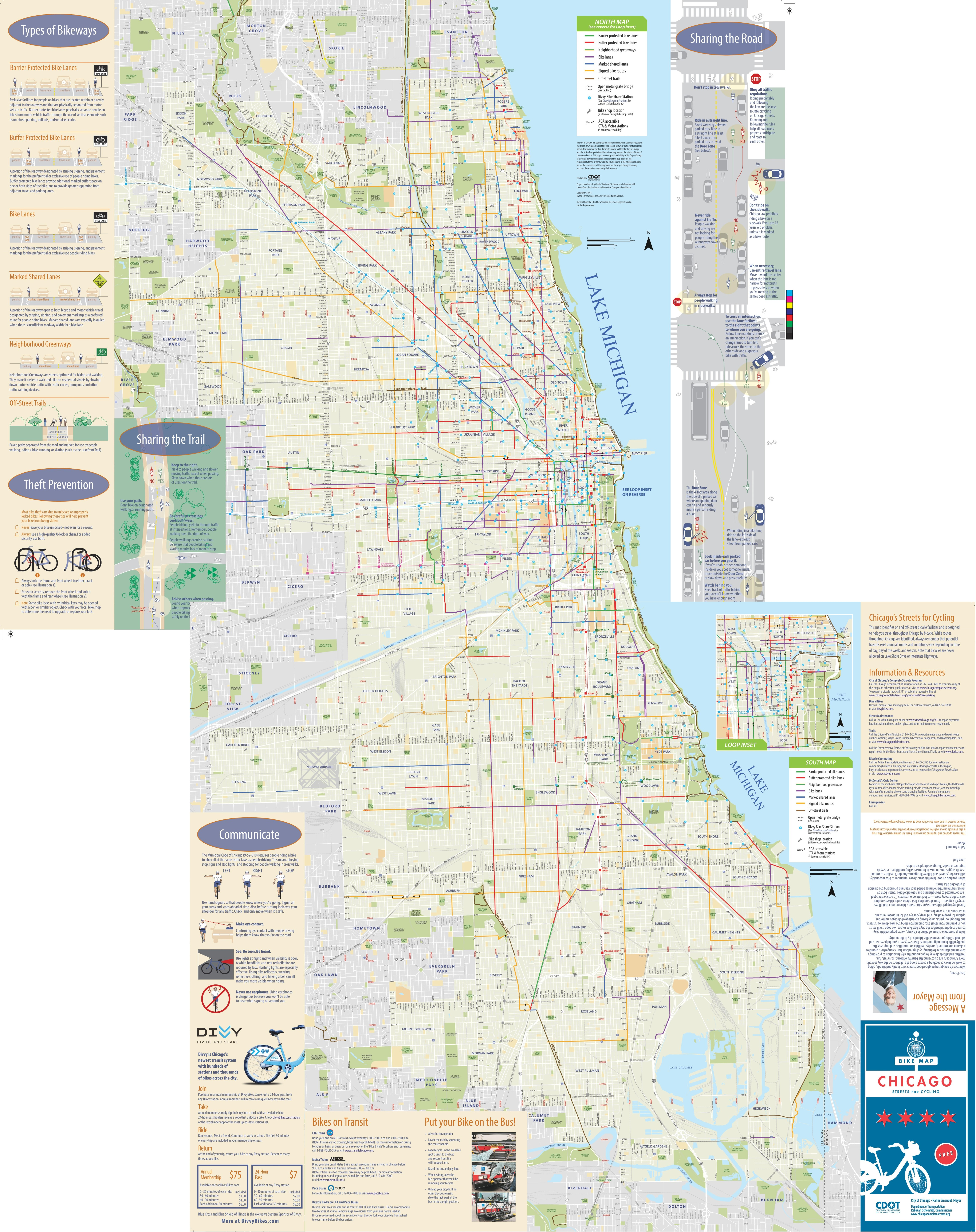 Chicago Bike Map Chicago bike map