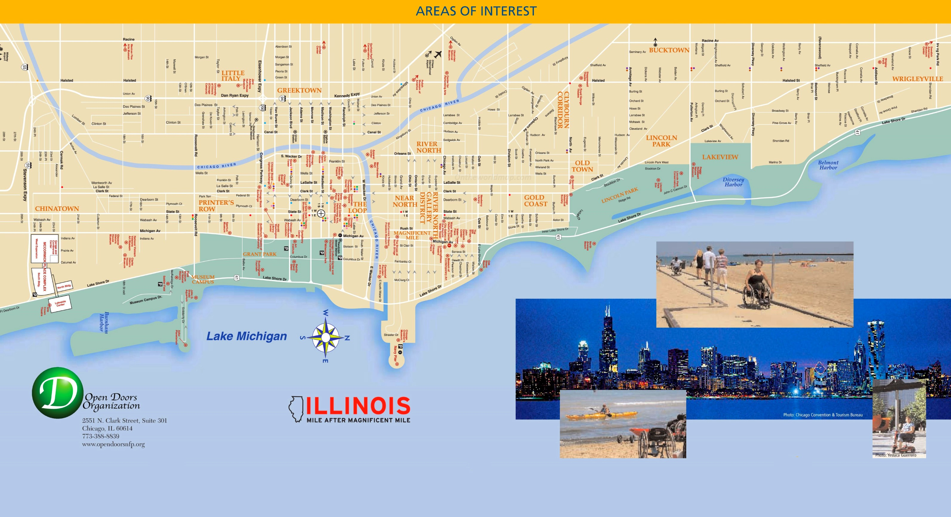 Chicago Loop Map Chicago Maps Illinois U S Maps Of Chicago