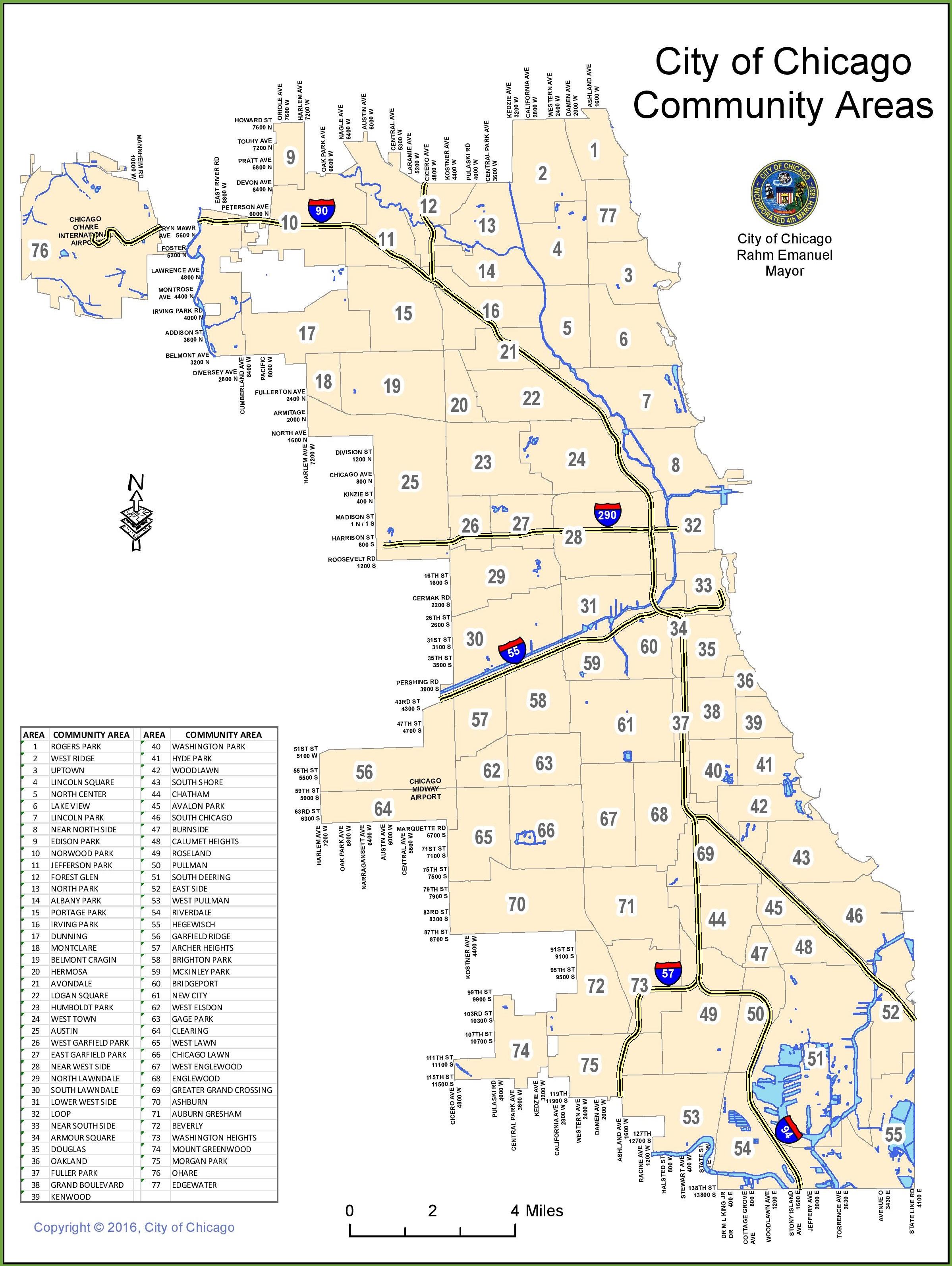 Chicago Community Area Map Chicago community areas map