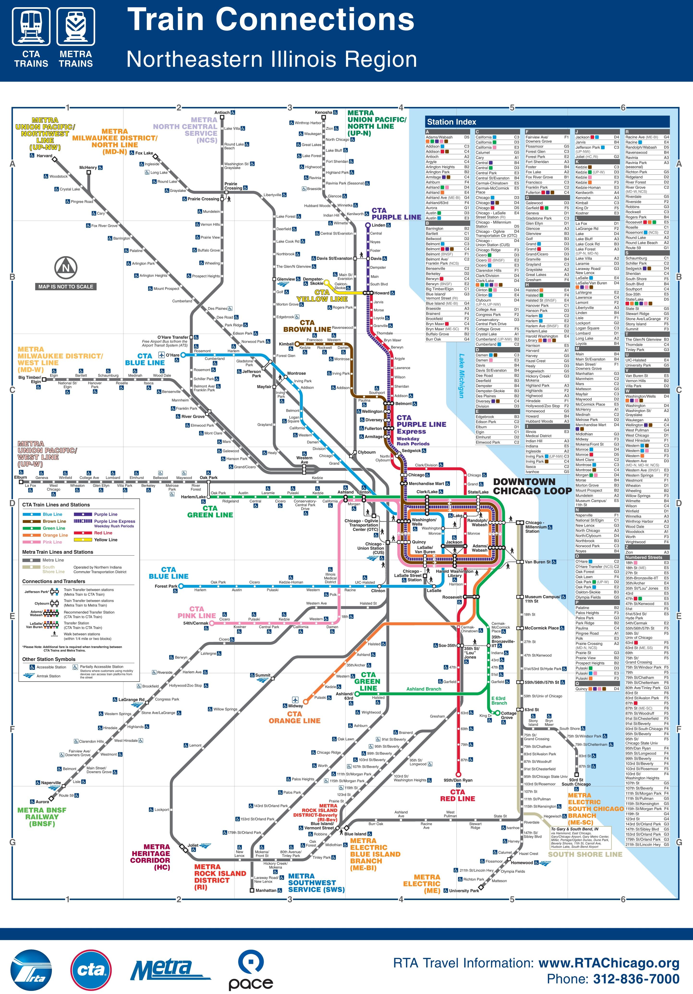 Chicago Subway Map Chicago CTA, Metra and subway map Chicago Subway Map
