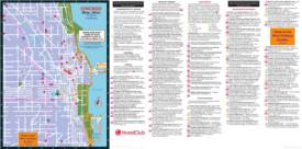 Chicago hotels, restaurants and sightseeing map