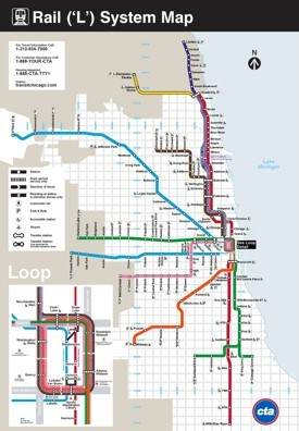 Chicago rail map