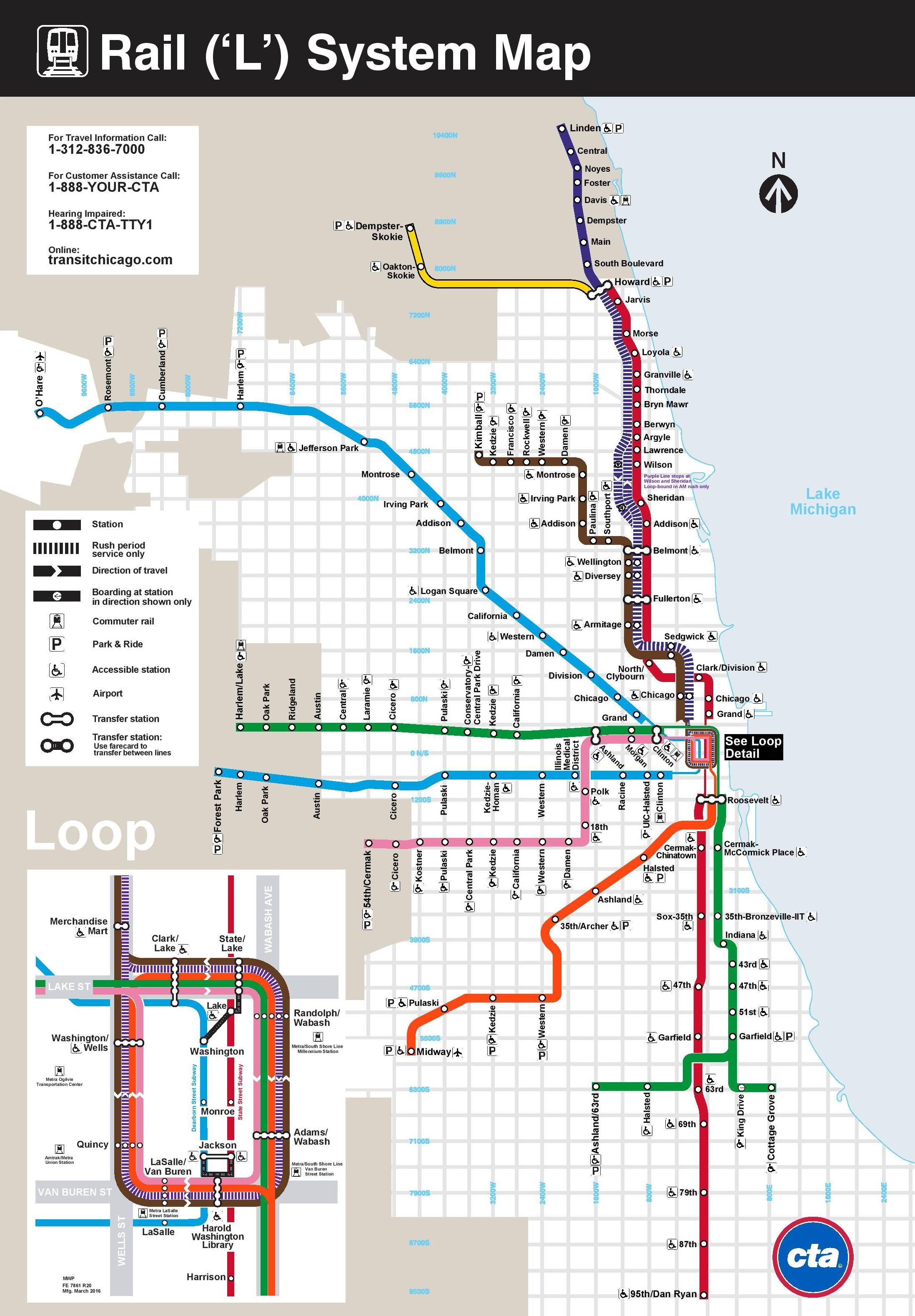 Chicago Rail Map Chicago rail map