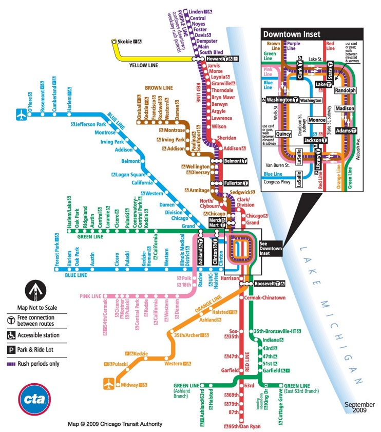 Chicago train map
