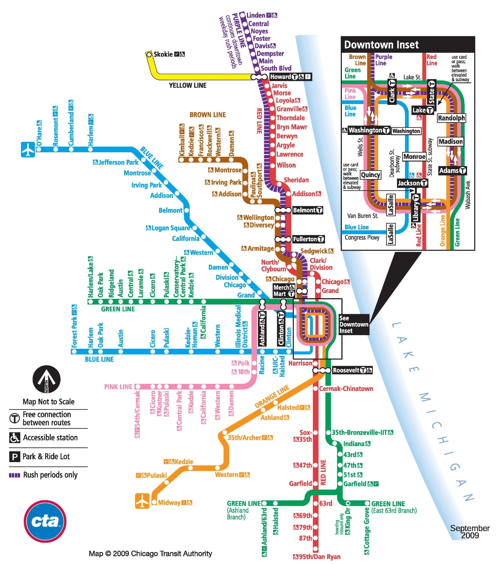 chicago train map -