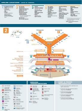 O'Hare Airport terminal 2 map