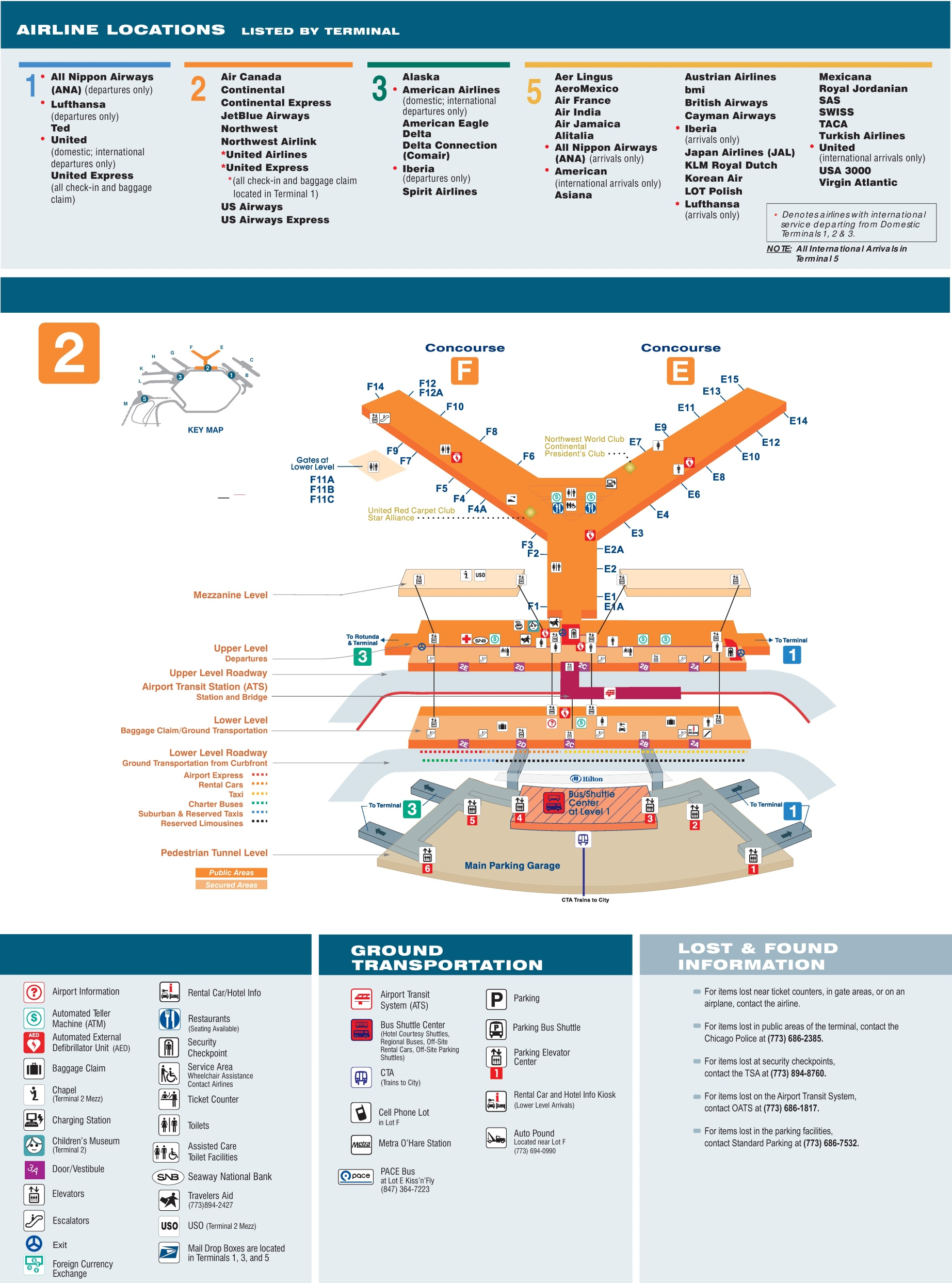 . o'hare airport terminal  map
