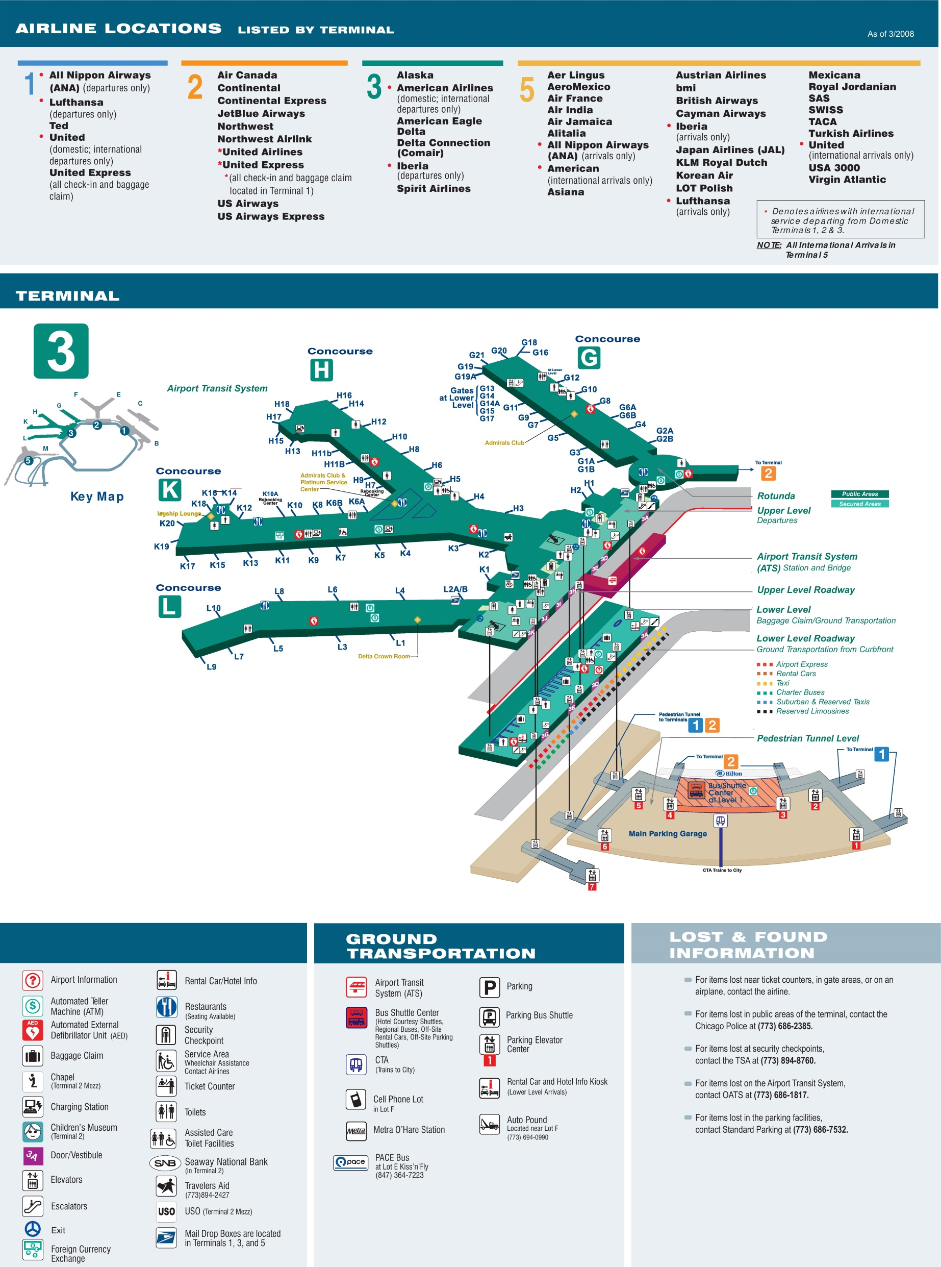 chicago o u0026 39 hare international airport terminal map for ord