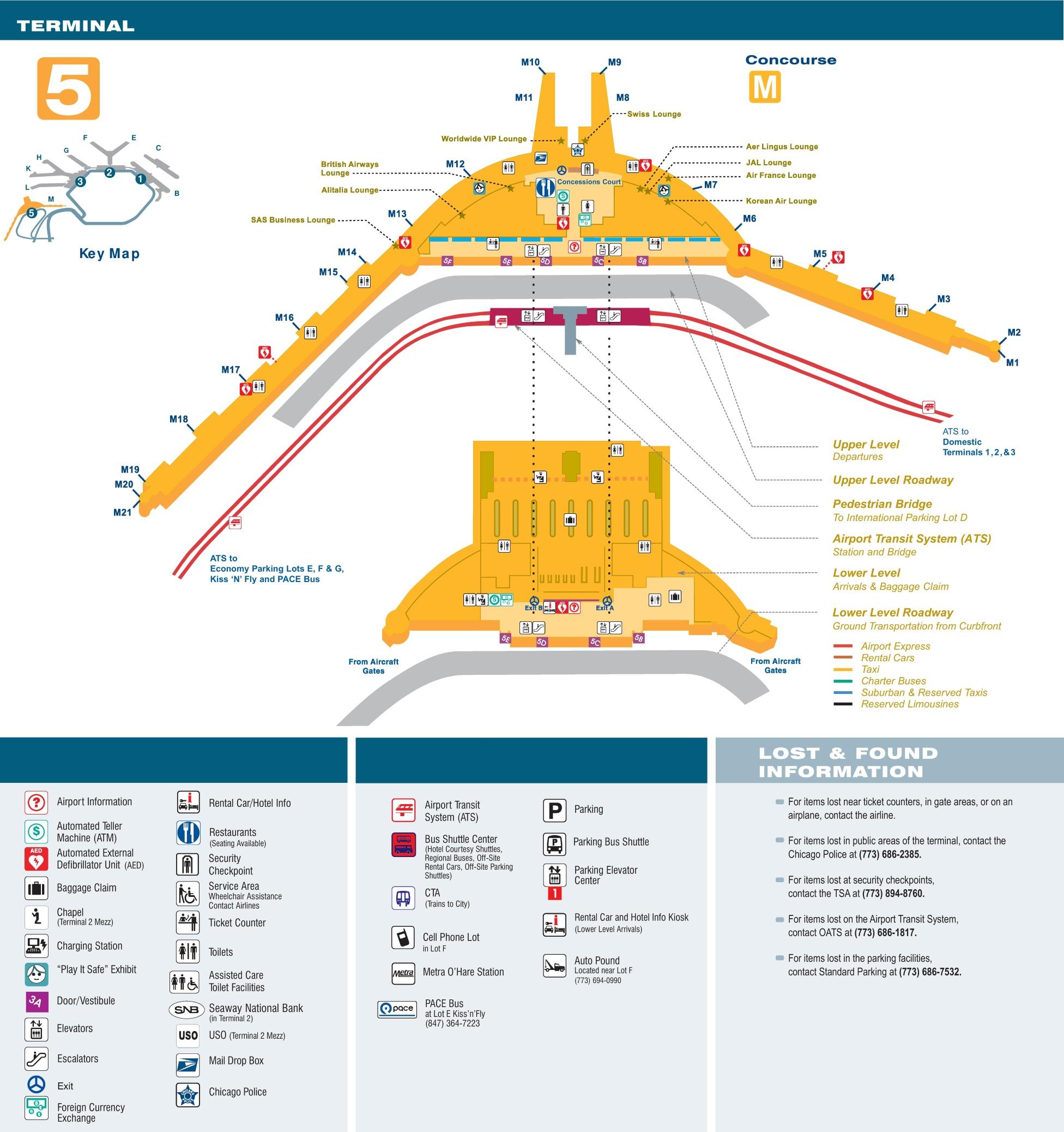 O Hare Terminal Map O'Hare Airport terminal 5 map O Hare Terminal Map