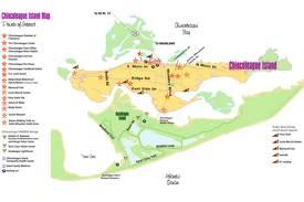 Chincoteague Island Tourist Map