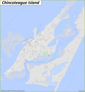 Map of Chincoteague Island