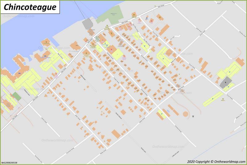 Map of Chincoteague
