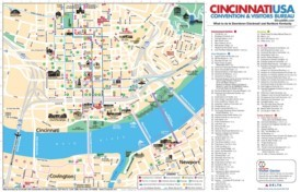 Cincinnati Maps Ohio US Maps of Cincinnati