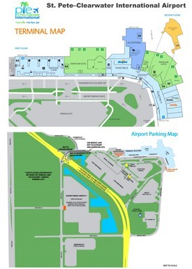 St. Pete–Clearwater International Airport map