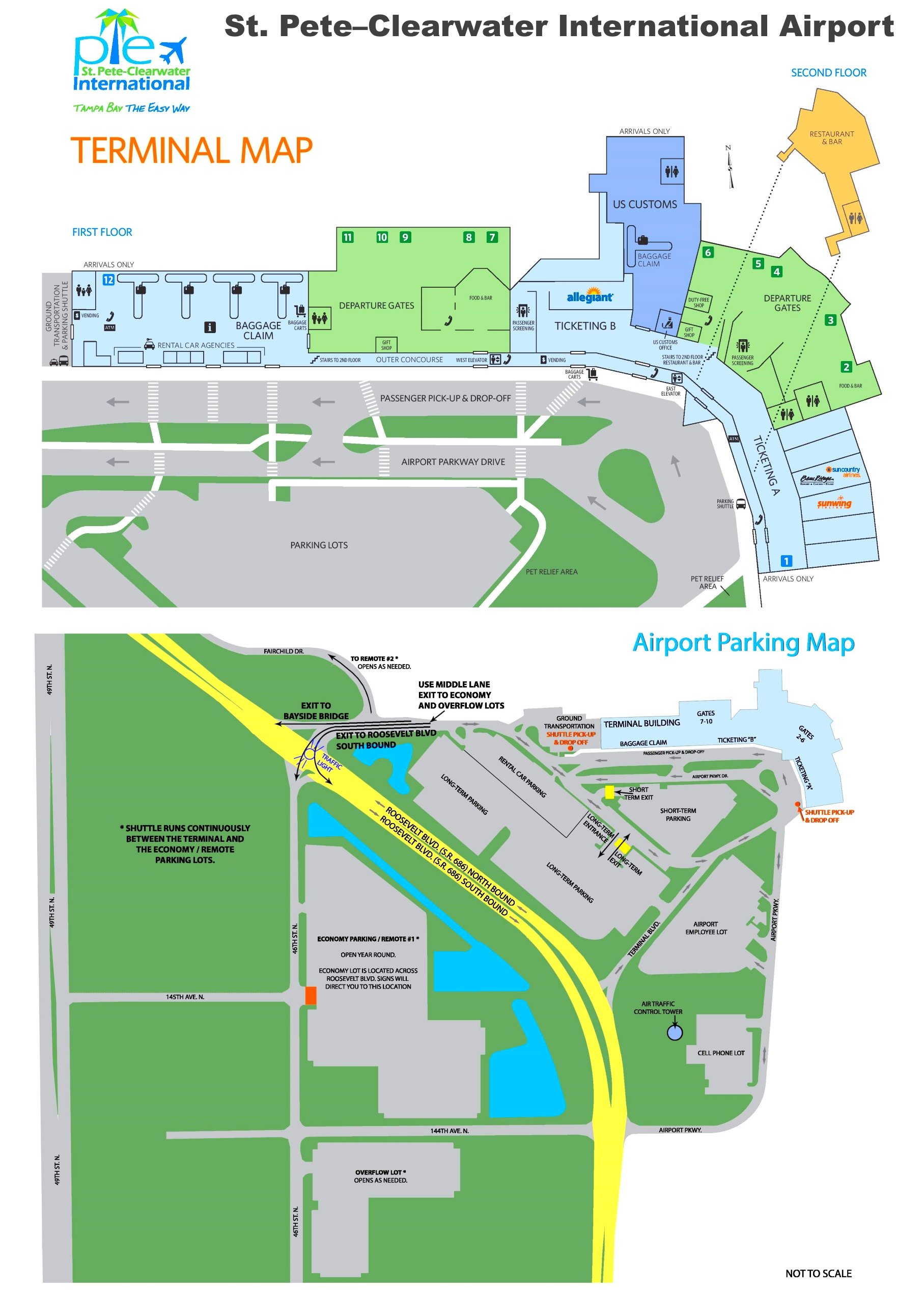 St Pete Clearwater International Airport Map