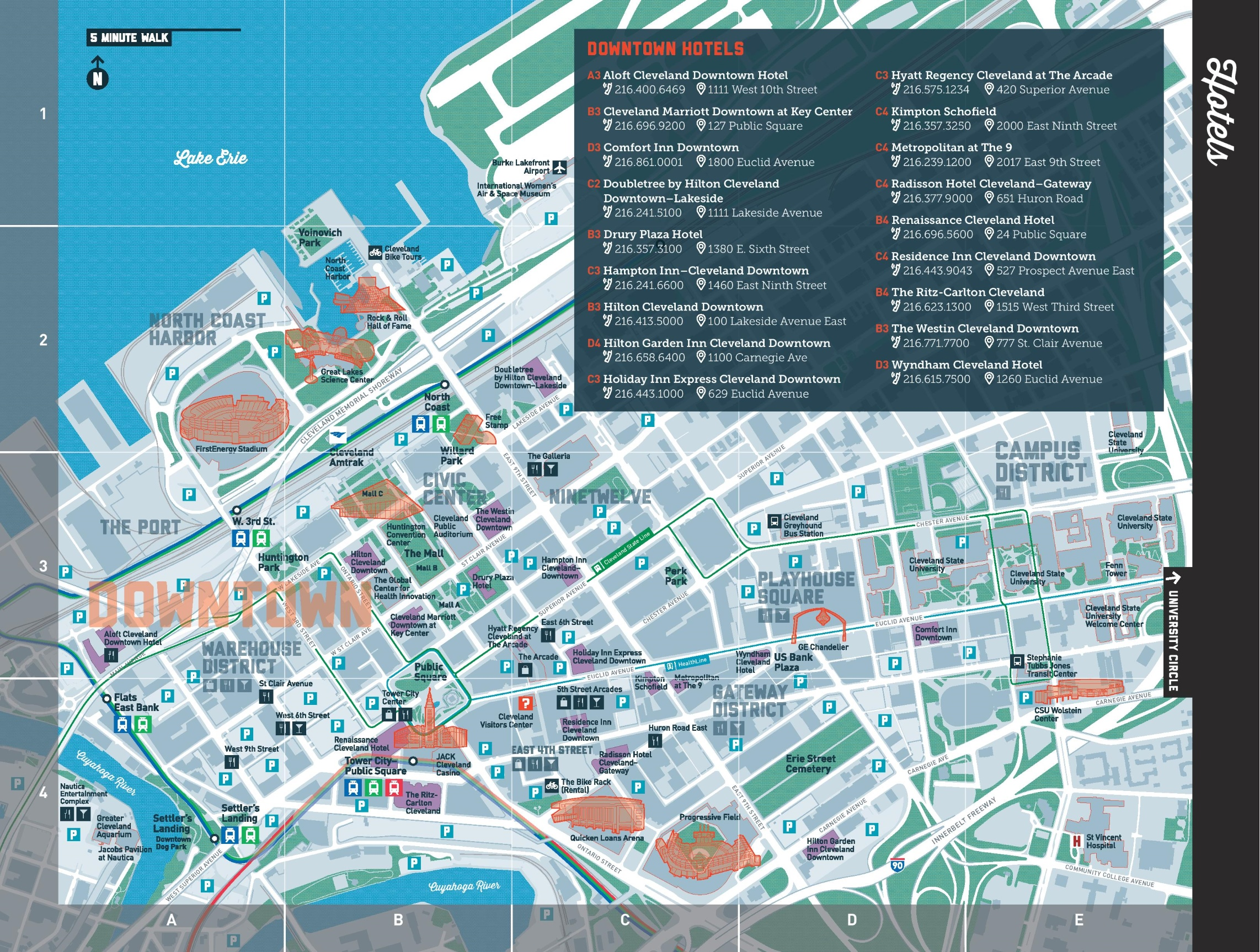 cleveland hotel map. map of cleveland hotels  rouydadnewsinfo