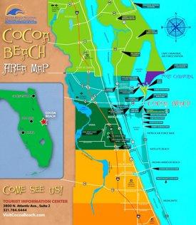Cocoa Beach area map