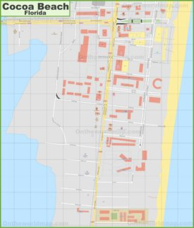 Cocoa Beach downtown map