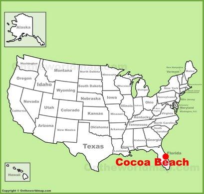 Cocoa Beach Location Map