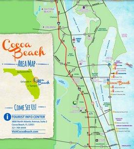 Cocoa Beach tourist map