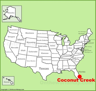 Coconut Creek Location Map