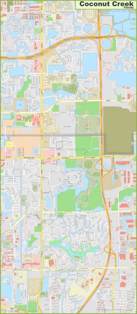Large detailed map of Coconut Creek