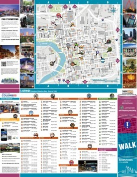 Columbus tourist attractions map