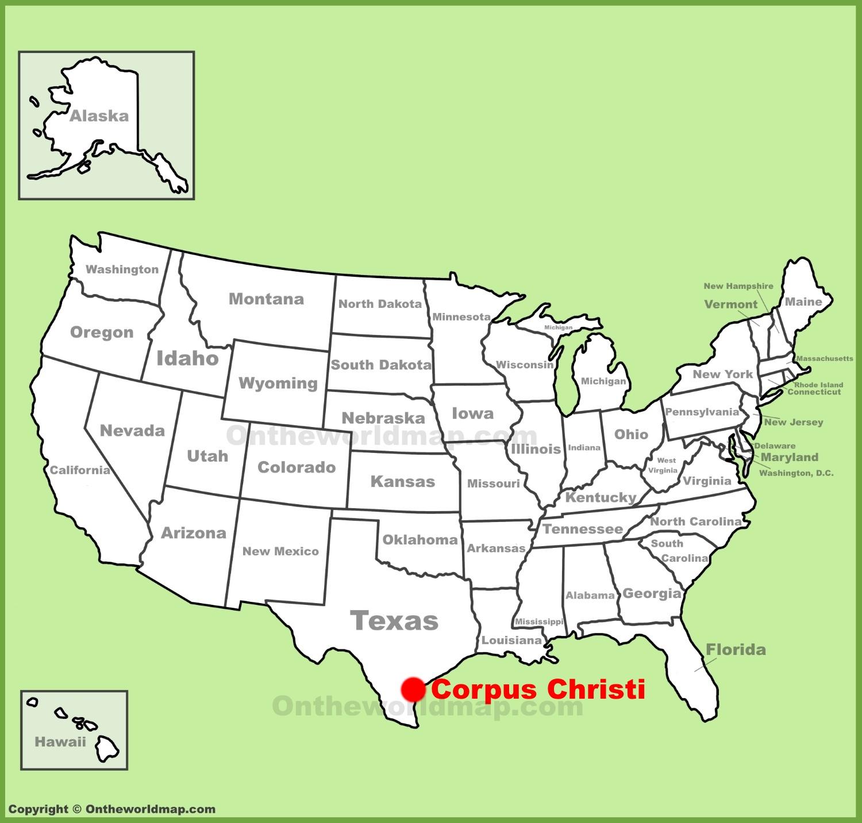 Corpus Christi Map Corpus Christi location on the U.S. Map Corpus Christi Map