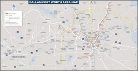 Dallas area map